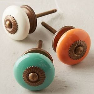 NIB Anthropologie Arrondie Knob - Tropical peach